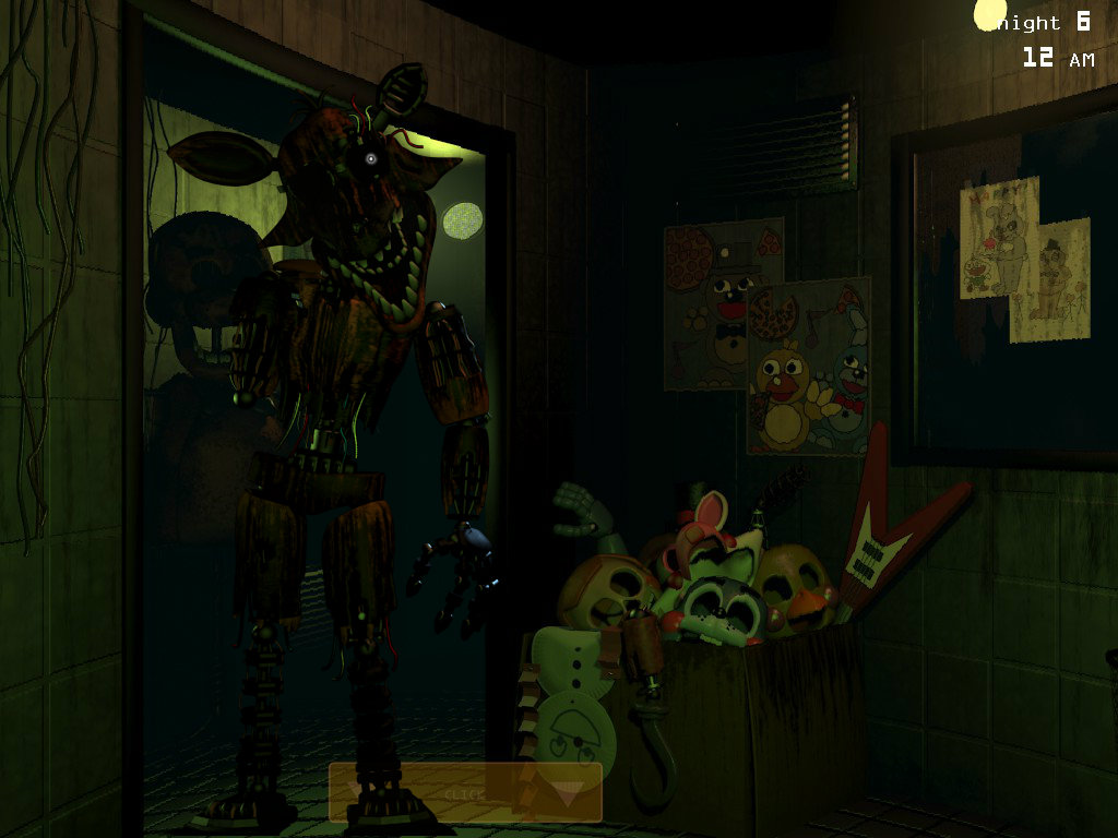 Fnaf 3 foxy at the door fanmade by dudez01 on deviantart