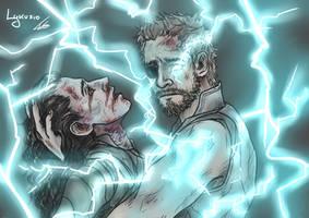 Avengers Infinity War - Loki and Thor by Lykusio