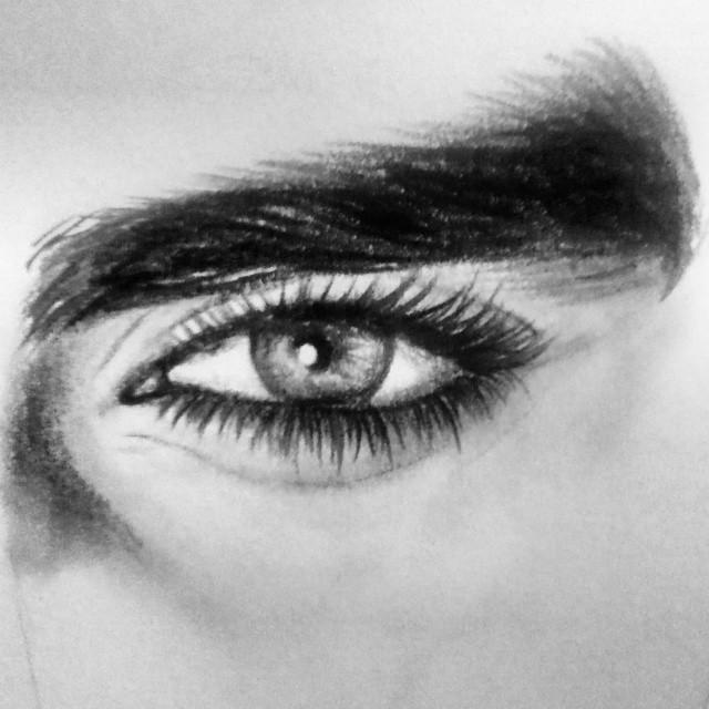 It is an image of Enterprising Men Eyes Drawing