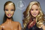 shakira doll repaint barbie ante y despues
