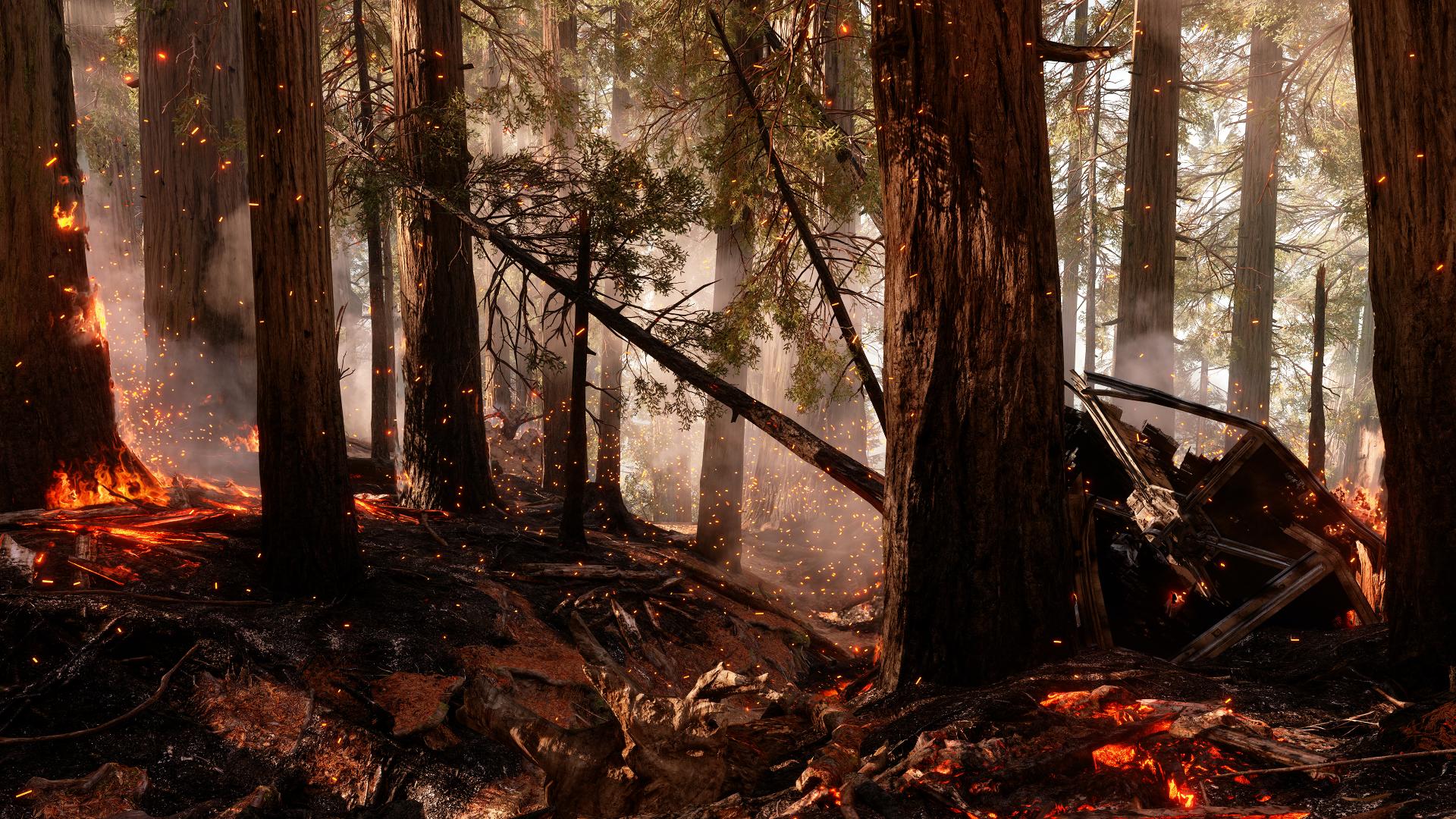Star Wars Battlefront Endor Fire Wallpaper By Faithfullfaun1 On Deviantart