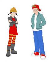 Recess kids....a bit older? by ChibiBee
