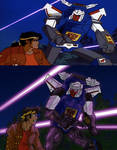 Scene redraw - Tracks and Raoul (Transformers) by ChibiBee