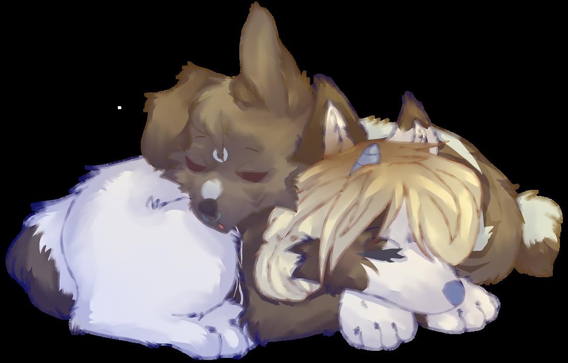 Puppies by Naiyanaa