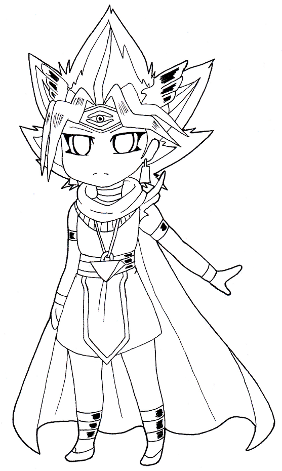 Line Drawing Of A Zombie : Chibi atem line art ver by fluffytail zombie on deviantart