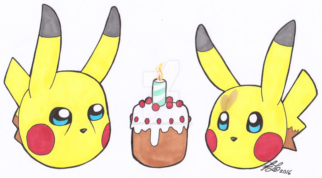 Pikachu Birthday Card By Fluffytail Zombie On Deviantart