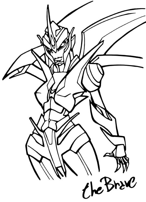 Transformer Prime Arcee Coloring Pages - Free-transformer-coloring-pages