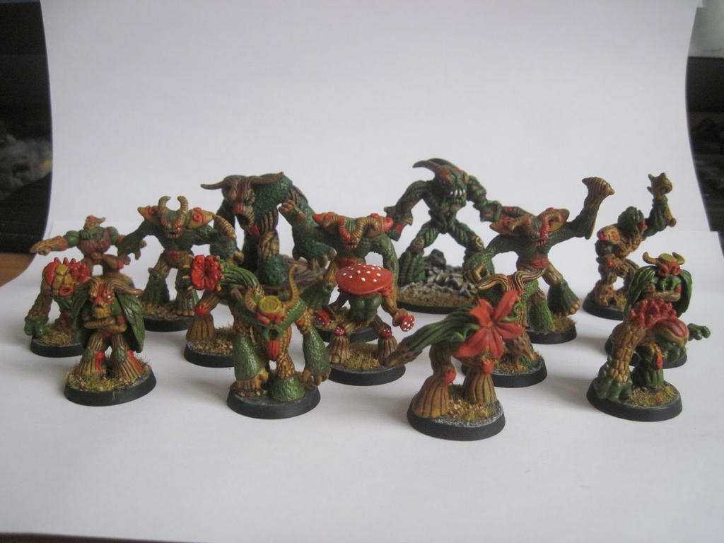 Proxy Blood Bowl team made from Mini Gormiti by TheBrave