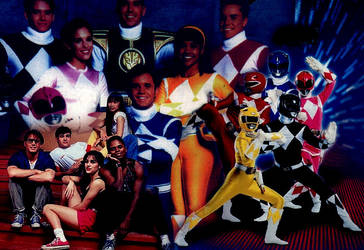 Mighty Morphin Power Rangers by wwfanz