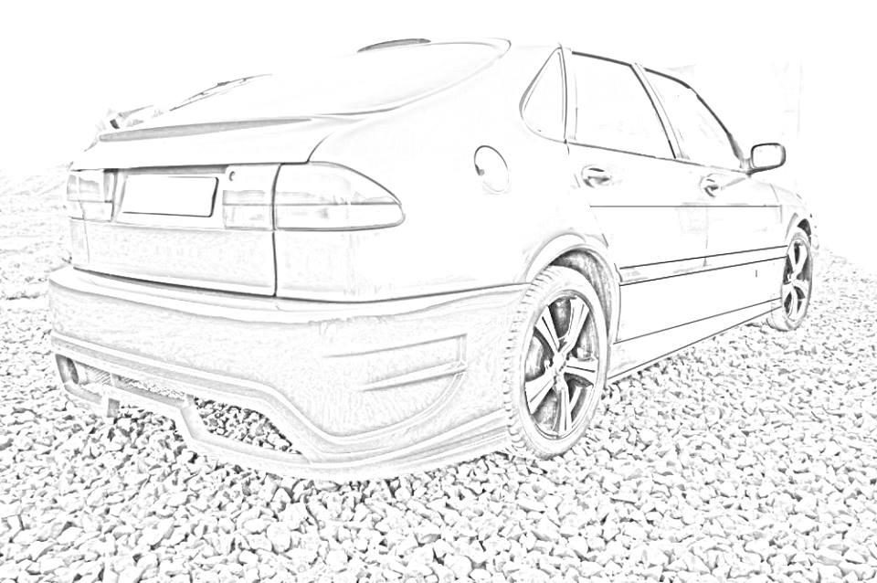Saab 9-3 Back Customized Draw by Goldz1337 on DeviantArt