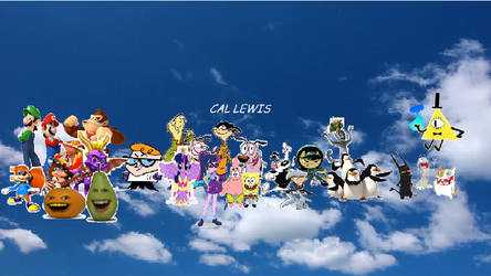 My new YouTube and Twitter cover UPDATED by Callewis2