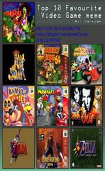 Top 10 favorite Nintendo 64 game meme by Callewis2