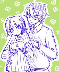 Travis and Merui - sketch by DejiNyucu