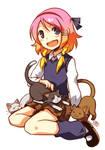 Ripples - Kuu and kitties by DejiNyucu