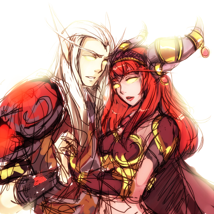 Red queen and consort by DejiNyucu