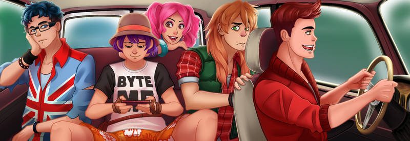 Lovely Little Thieves - in the van by DejiNyucu