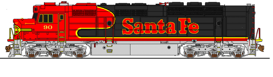 Black Bonnet: A Conceptual ATSF Paint Scheme by justcallmesly