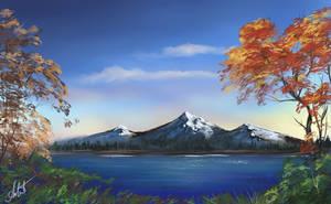 Over the lake by Selenada