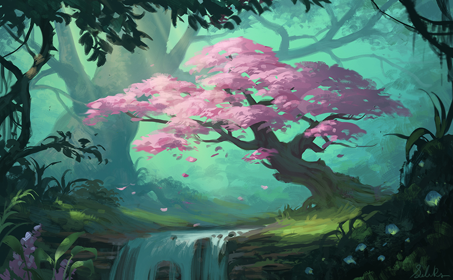 The Tree of Wishes by Selenada