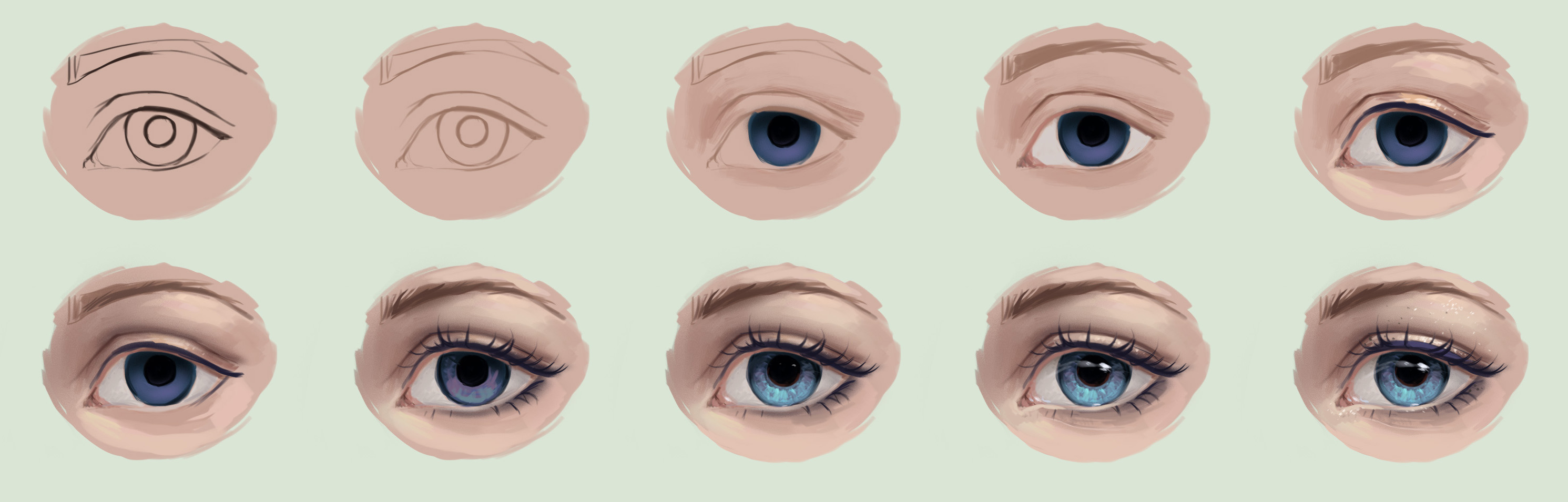 how to draw a realistic eye digital