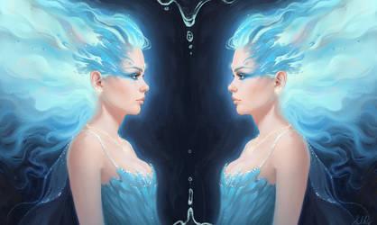 Blue Ice Flame Princess