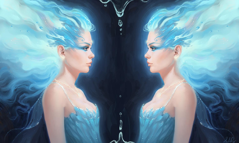 Blue Ice Flame Princess by Selenada