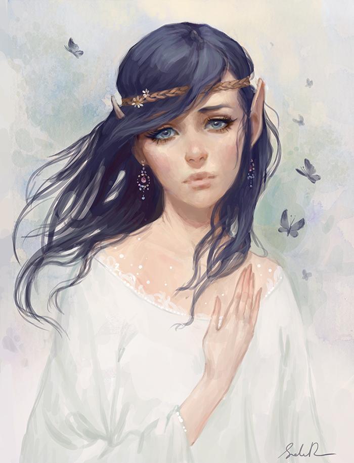 Galeria de Arte: Ficção & Fantasia 1 Elf_girl_by_selenada-d7ltxgm