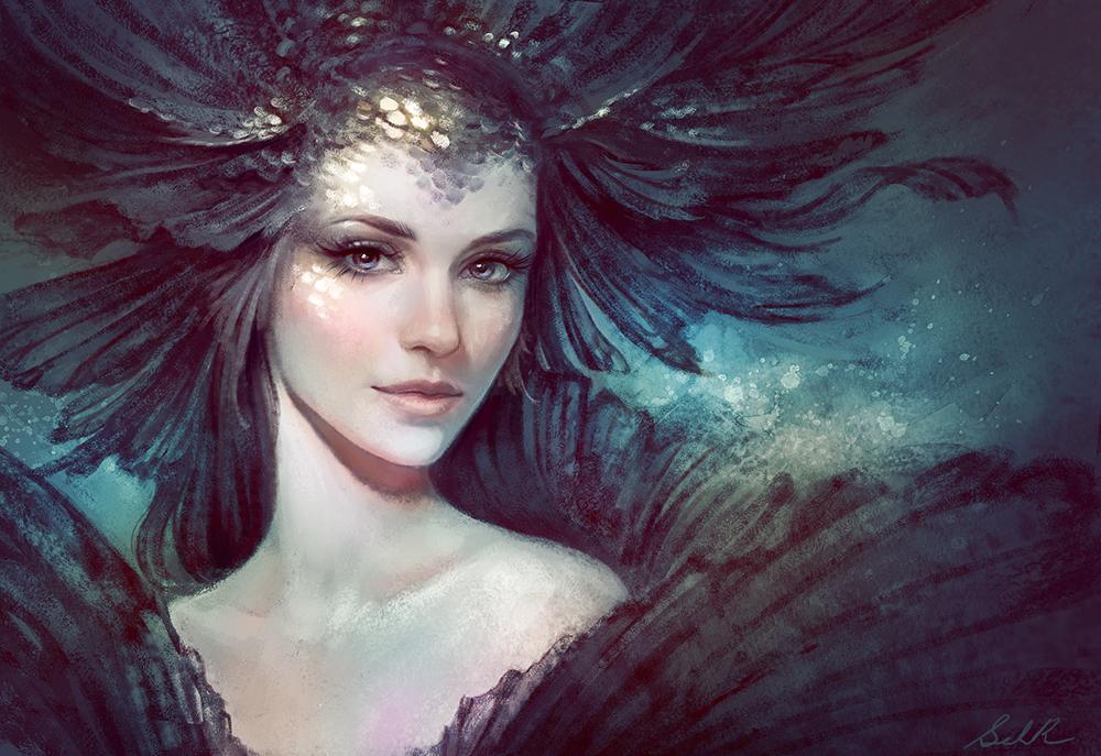 Black Goldfish by Selenada