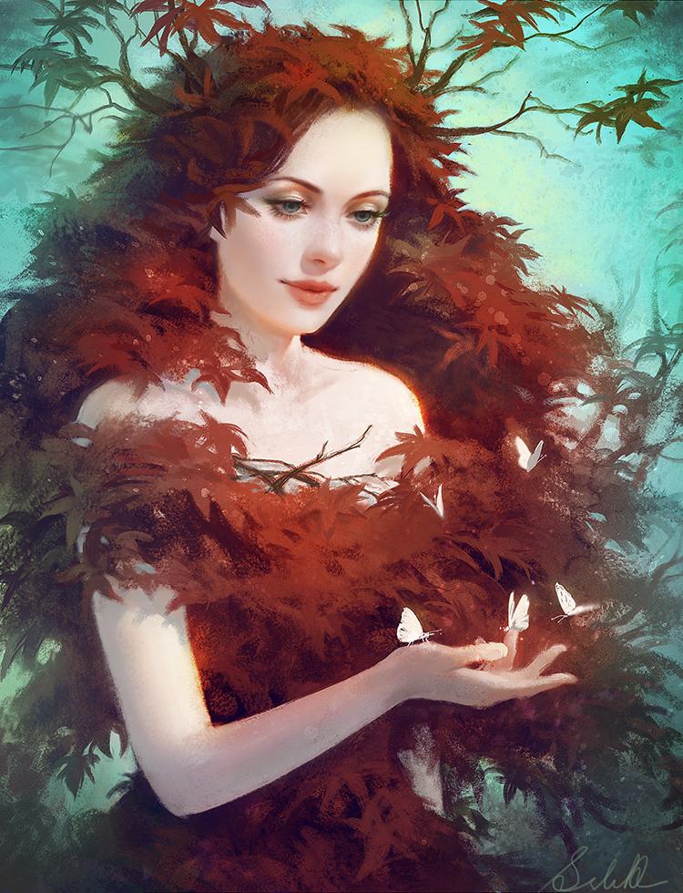 Red Maple by Selenada on DeviantArt