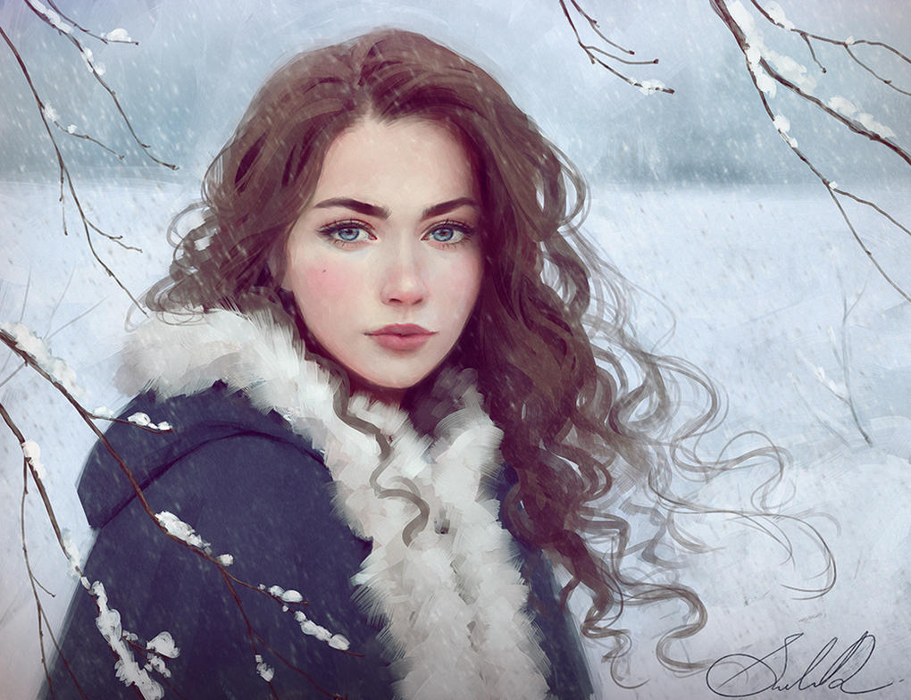 Art Beautiful Woman Winter 96