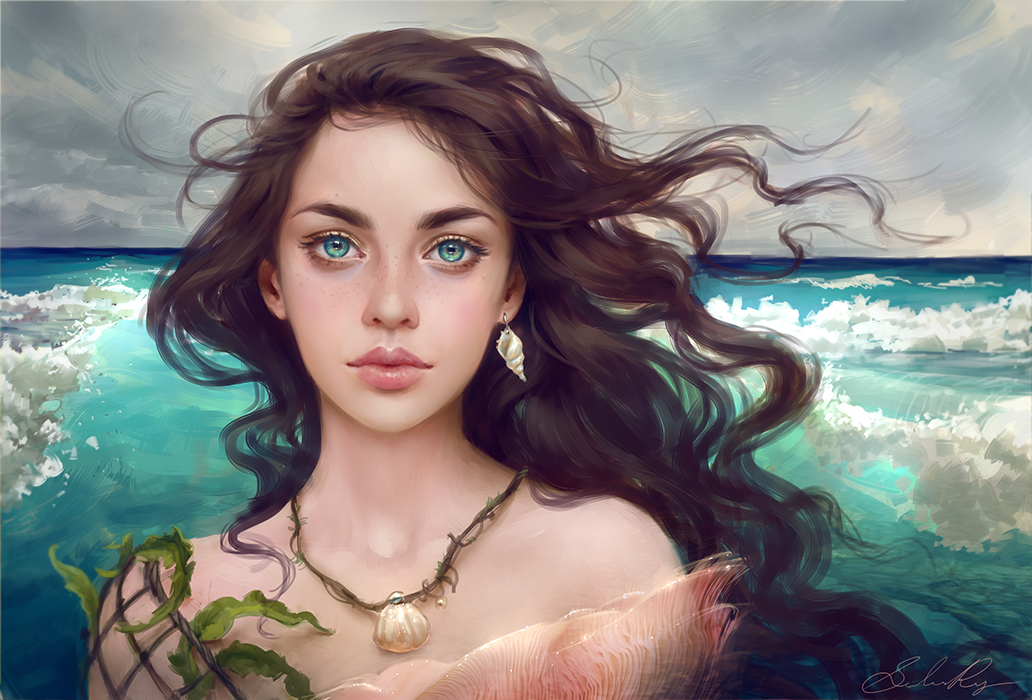 'Water Splash' Adoptable Portrait (CLOSED)