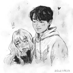 Cute Couple Drawing (study)