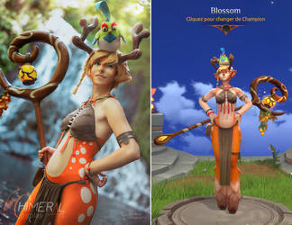Blossom Cosplay Vs Character - Battlerite by Chimeral-CosplayArt