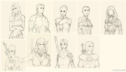 Bioware Ladies by dorkynoodle