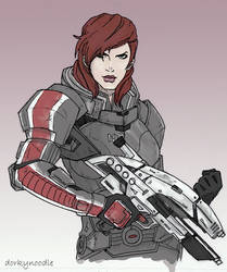 Jane Shepard by dorkynoodle