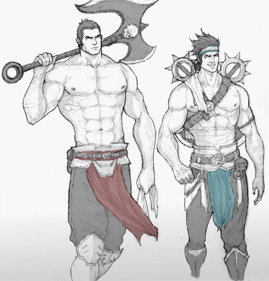 Noxian Brothers by dorkynoodle