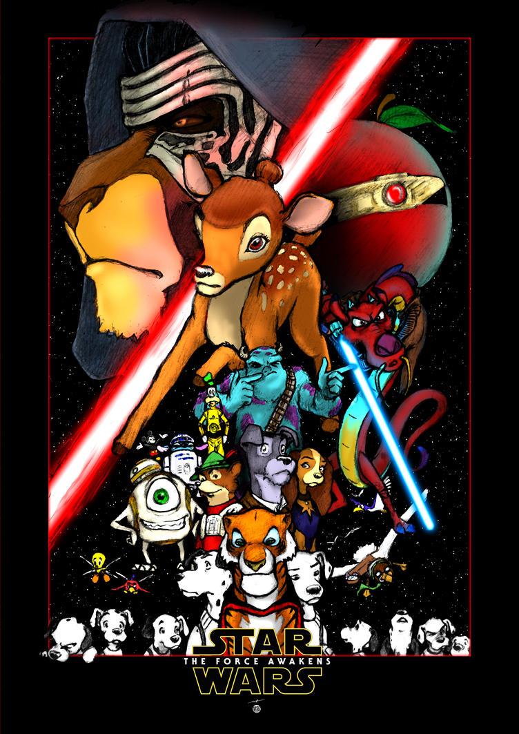 Star Wars - Walt Disney - The Force Awakens by deviantetienne