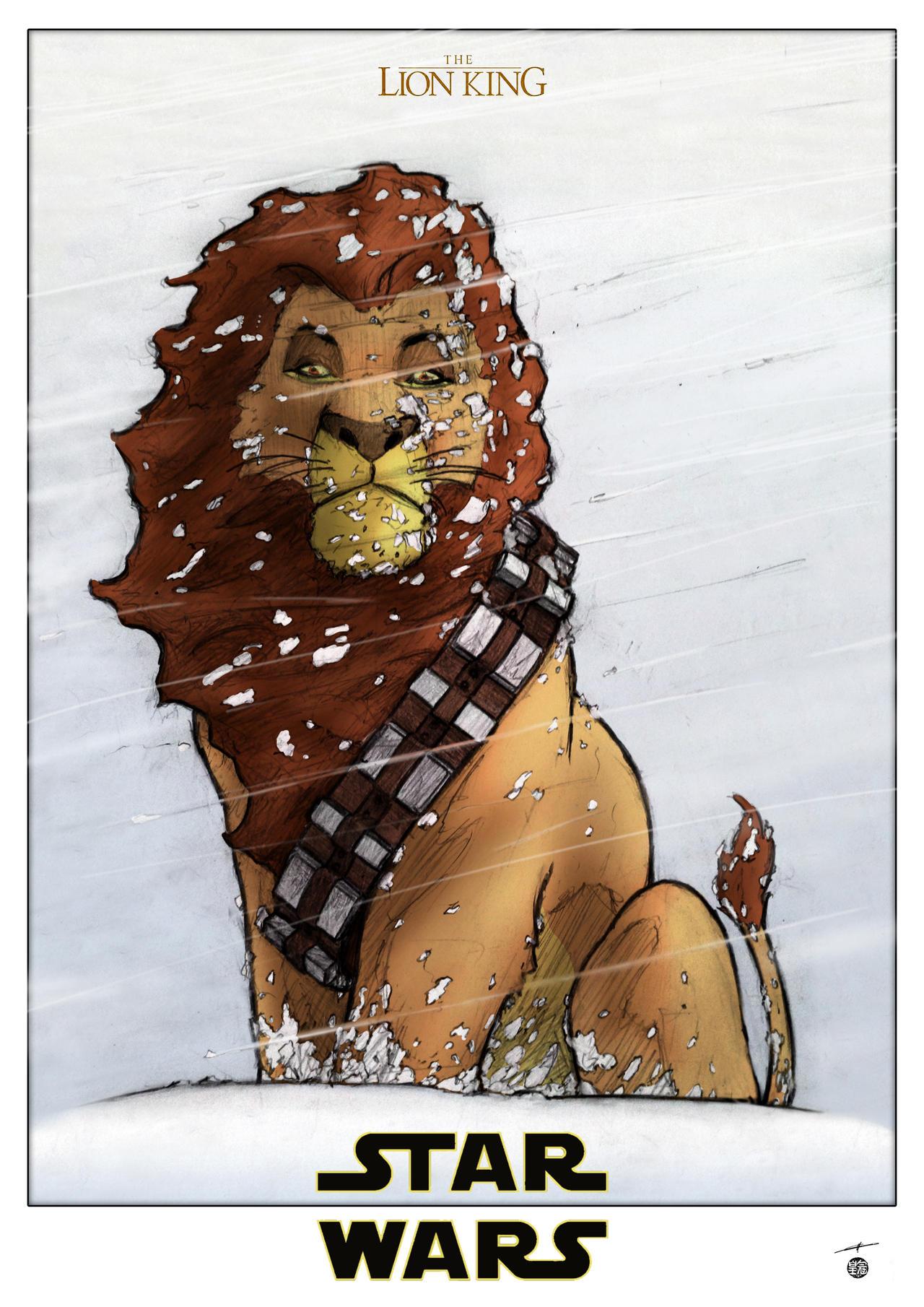Star Wars - Mufasa - Chewbacca by deviantetienne