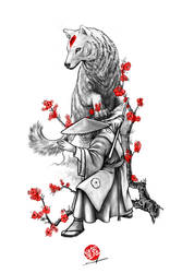 Asian wolf fighter