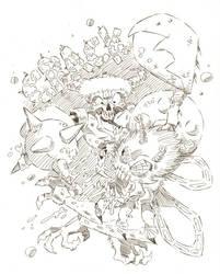 Battle Skull Plate 12 Inks by timmytom