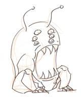 Crazy Alien sittin by timmytom