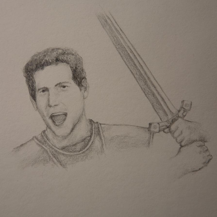 Brothar Bramblebrock the Human Warrior by Assasserik