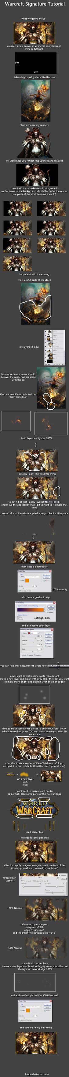 Warcraft Signature Tutorial by Loupu