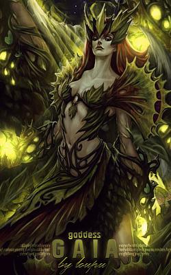 Goddess Gaia by Loupu