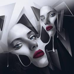 Melting the mask by Loupu