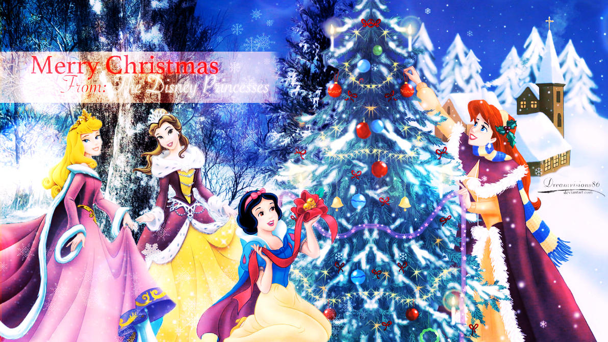 Disney Christmas by Dreamvisions86