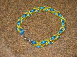 Blue Yello Byzantine Bracelet