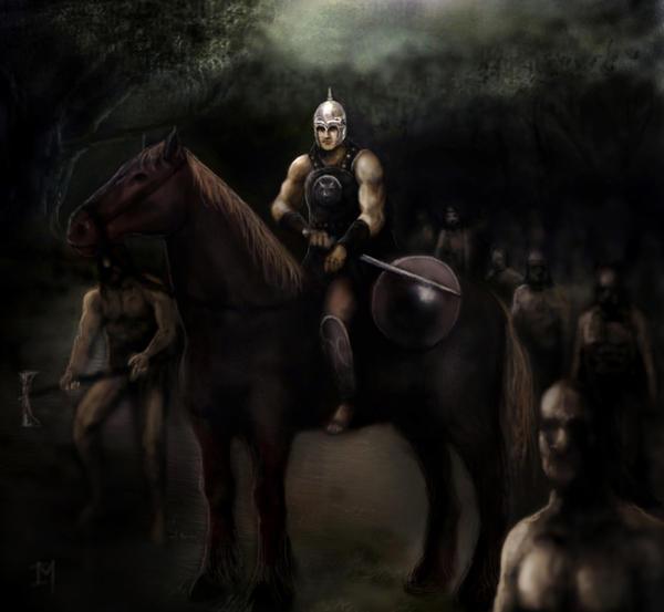 Iberiar zaldun by Gixajin