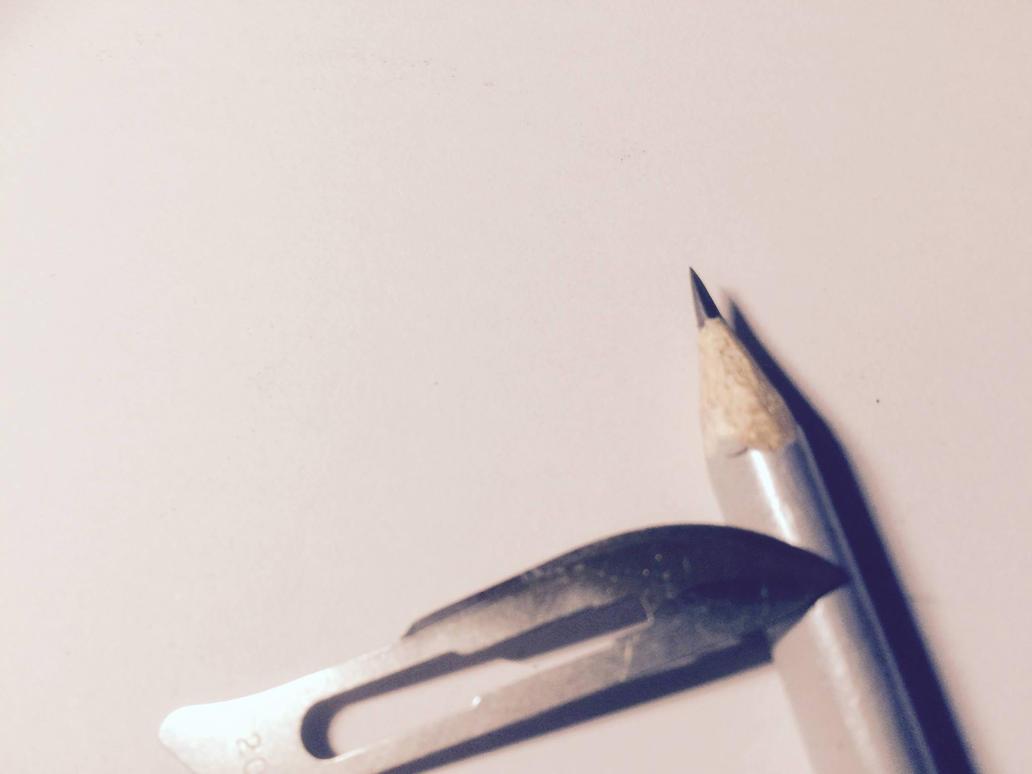 How I sharpen my pencils by Saitz