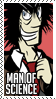 Man of Science Stamp by ZiBaricon